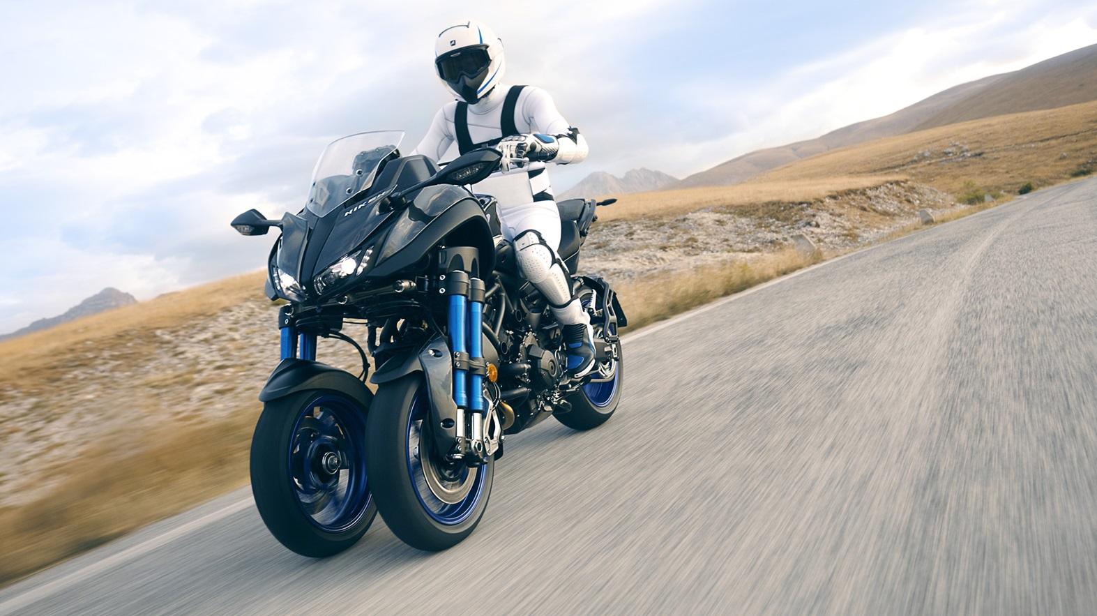 yamaha niken erstes 3 r driges motorrad mit neigesystem
